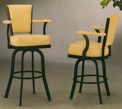 Swivel Bar Stool With Arms Quantiply Co Within Stools Backs And