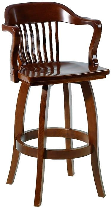 Swivel Bar Stools with Arms | Wooden Bar Stools With Arms | Basement