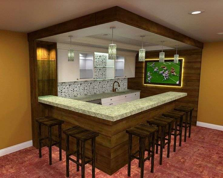 Luxury Basement Bar Ideas for Small Spaces Of Simple Basement