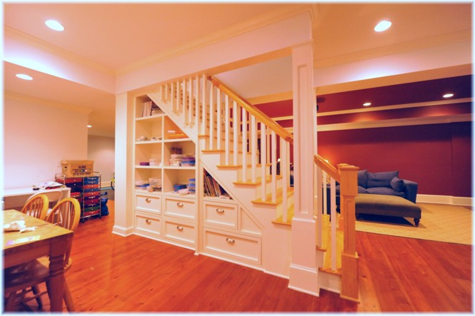 Basement Photo Friday u2013 Basement Storage Idea Tucked Under the