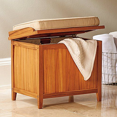 Bathroom bench seat storage | Bathroom | Bathroom bench, Bathroom
