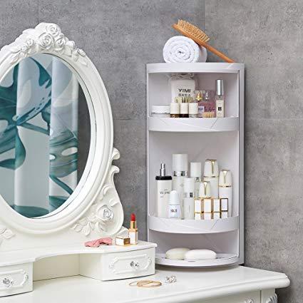 Amazon.com: Manzelun Corner Shelves,4 Tier Storage Cabinet,360