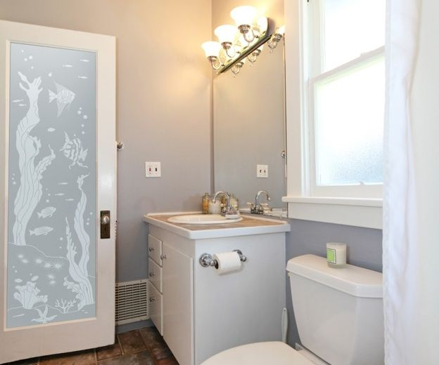 Beautiful frosted glass pattern for bathroom entry doors | Decolover
