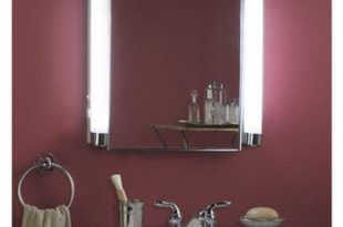 Lighted Medicine Cabinets With Top Lights or Side Lights in a