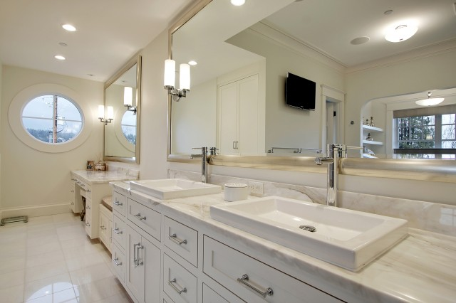 Double Vanity Ideas - Contemporary - bathroom - Paul Moon Design