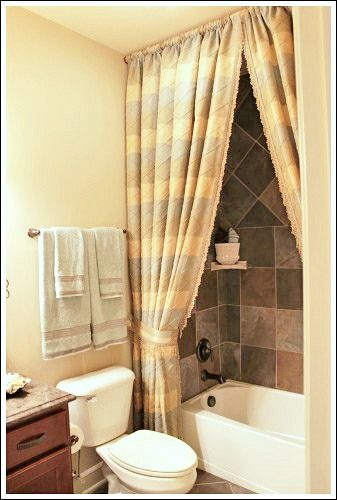 23+ Elegant Bathroom Shower Curtain Ideas, Photos, Remodel and