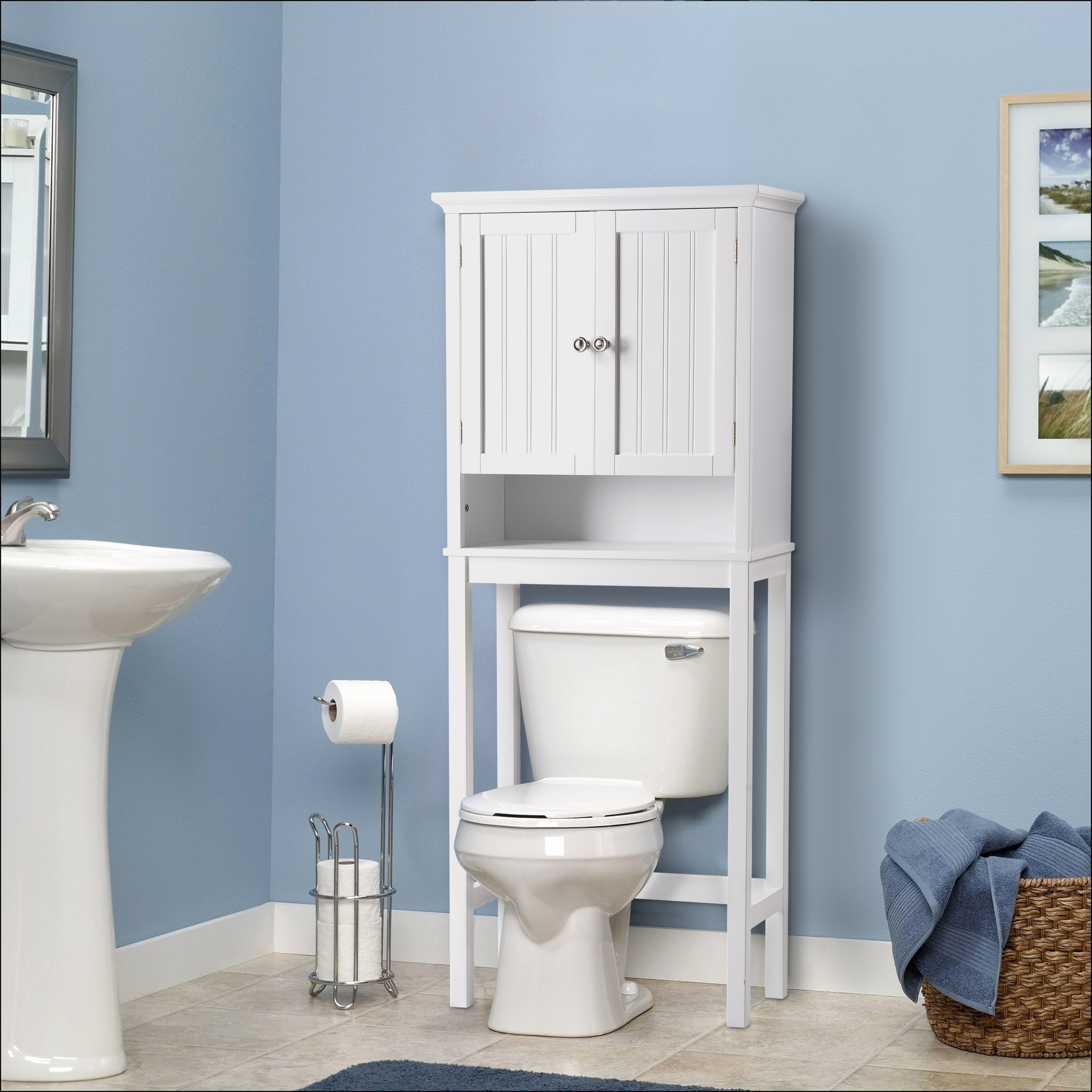 OS Home and Office Furniture Bathroom Space Saver over toilet