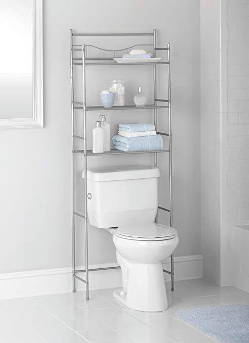 Amazon.com: 3-Shelf Over Toilet Bathroom Storage Organizer, Cabinet