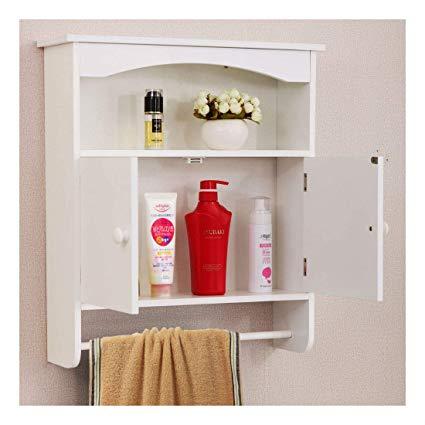 New Modern Wall Mount Bathroom Medicine Storage Cabinet Towel Shelf
