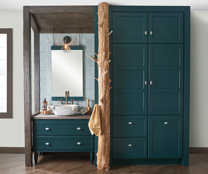 Teal Green Bathroom Vanity & Storage Cabinets - Decora