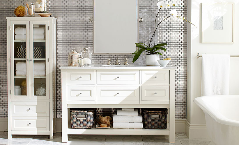 9 Clever Towel Storage Ideas for Your Bathroom   Pottery Barn