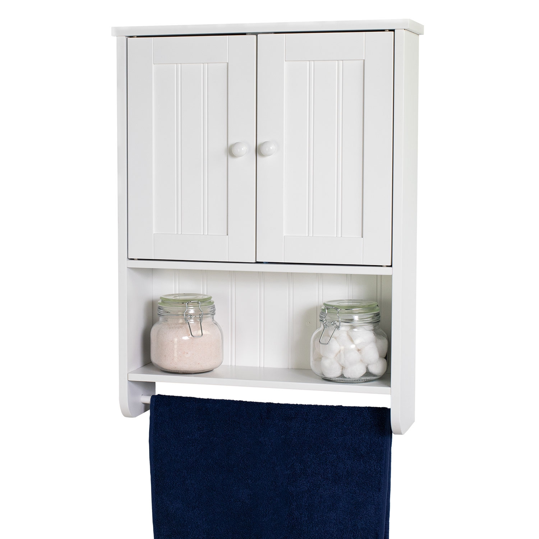 Wall Mount White Bathroom Medicine Cabinet Storage Organizer with