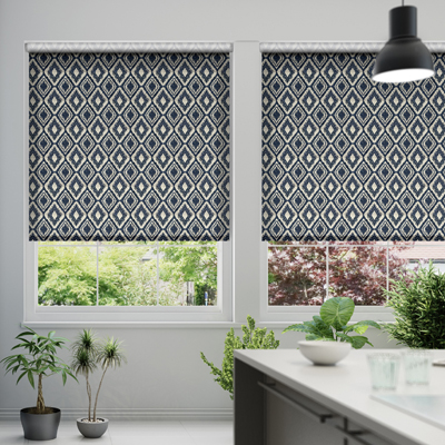 Blinds are a more practical choice than curtains in both kitchens and  bathrooms as they can generally be cleaned with a damp cloth and warm soap  water