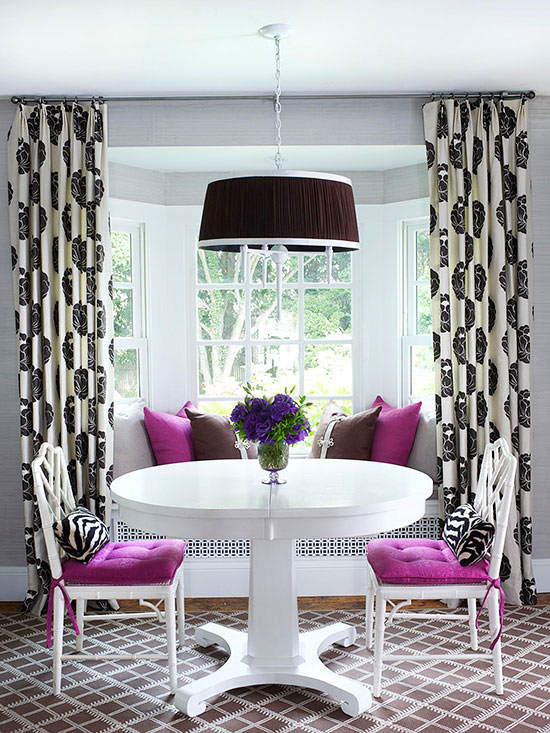 Bay and Bow Window Treatment Ideas | Better Homes & Gardens
