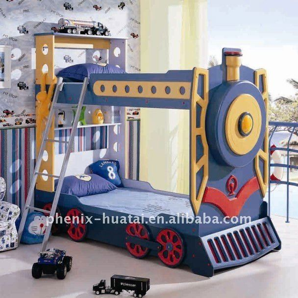 Bunk Beds For Toddler Boys | Kids Train Bunk Bed Photo, Detailed