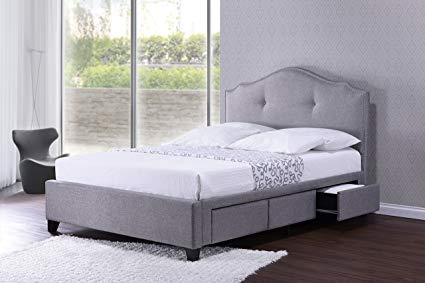 Amazon.com: Baxton Studio BBT6329-King-Grey Armeena Linen Modern