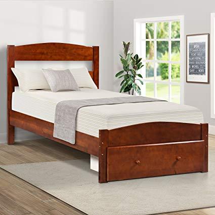 Amazon.com: Wood Platform Bed Frame with Storage and Headboard