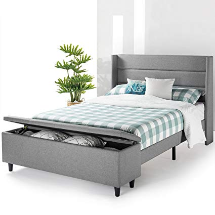 Amazon.com: Mellow Modern Upholstered Platform Beds with Headboard