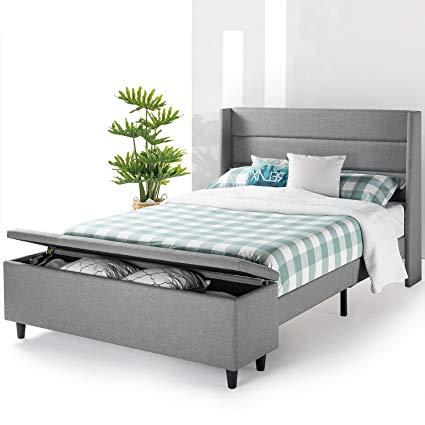 Amazon.com: Mellow Modern Upholstered Platform Beds with Headboard