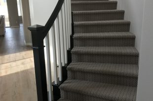 Herringbone stairway carpet. Best stair carpet for high traffic areas.  Tuftext carpet by Shaw.