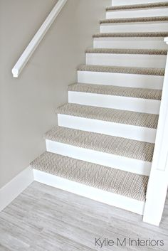 The 3 Best NOT BORING Paint Colours to Brighten Up a Dark Hallway. Stairs  With Carpet
