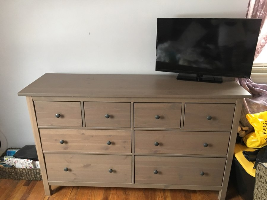 Used IKEA hemnes 8 drawer dresser gray-brown 63/37 $150.00 or best