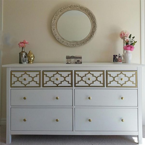 Overlay Jasmine Kit for Top Drawer Only of IKEA Hemnes 8 drawer