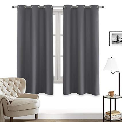 Amazon.com: LIFONDER Kitchen Window Blackout Curtain - Grommet Top