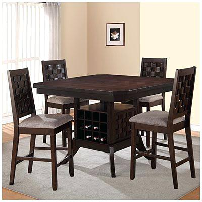 Kitchen Table With Wine Rack Base Big Lots Inside Dining Room