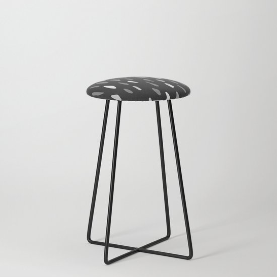 Stains Black and White Counter Stool by artprink | Society6