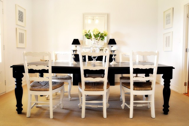 Black And White Dining Room Set Furniture Buffet Luxury Regarding