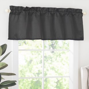Black & White Valances & Kitchen Curtains You'll Love | Wayfair