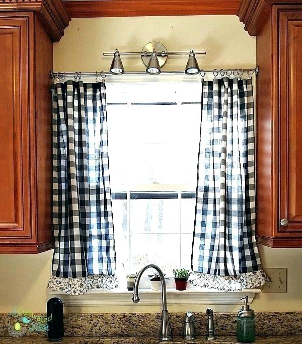 Black And White Toile Kitchen Curtains Marvelous Black And White
