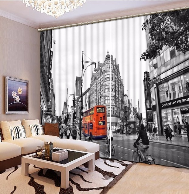 Aliexpress.com : Buy Custom New Design 3D Curtains Black white