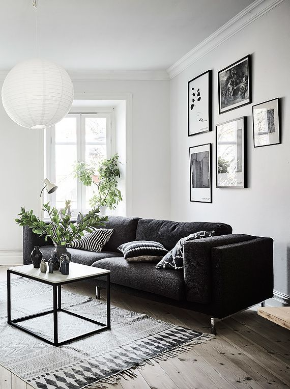 Black And White Living Room Furniture - Living & Dining Room