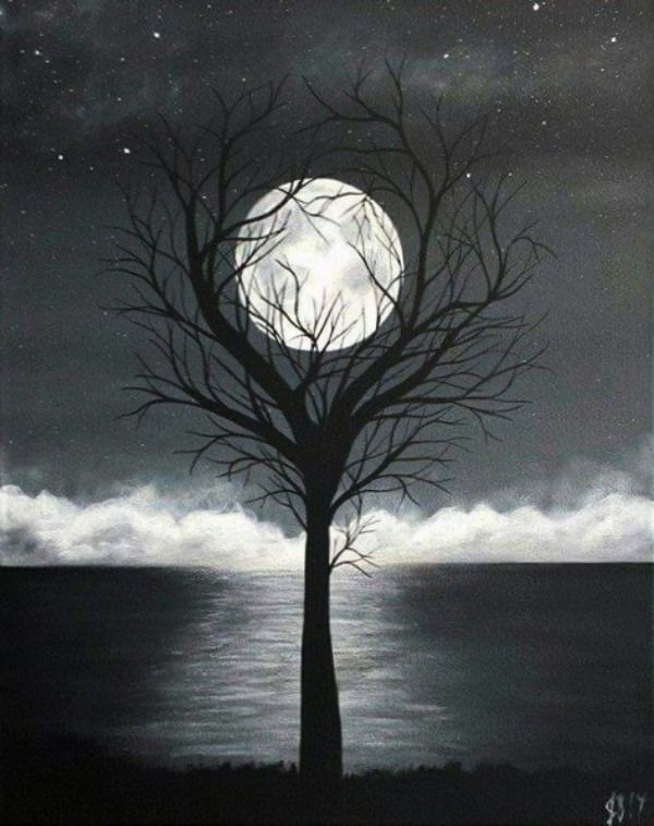 30 Creative Black And White Painting Ideas On Canvas | painting