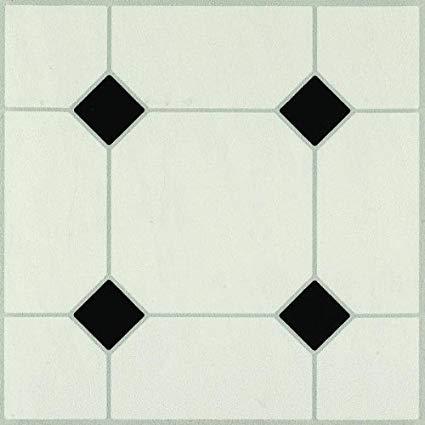 Armstrong Afton - Self-Stick Diamond Jubilee Black / White Vinyl