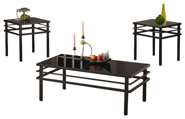 Coaster 3 Piece Occasional Table Sets Modern Coffee and End Table