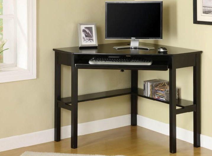 Corner Desk, Black | Furniture of America
