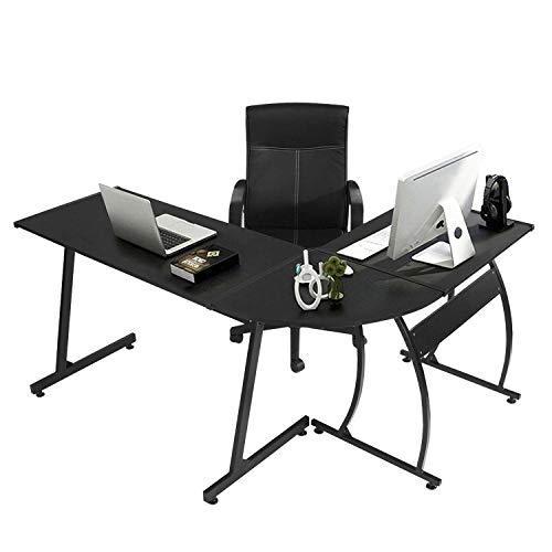 GreenForest L-Shape Corner Computer Office Desk PC Laptop Table