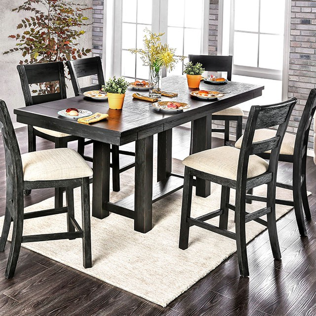 Thomaston Brushed Black Counter Height Dining Set - Shop for