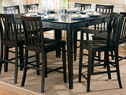 Amazon.com - Contemporary Style Black Counter Height Dining Table