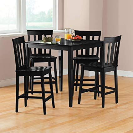 Amazon.com - Mainstays 5-piece Counter Height Dining Set, Black