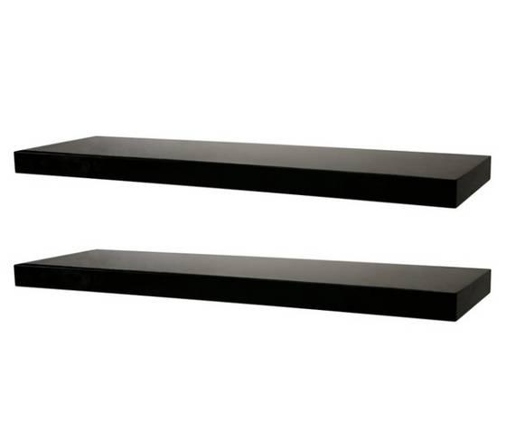 Black Floating Wall Shelf with Hidden Bracket(id:4663915) Product
