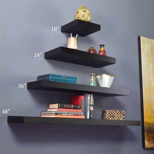 Black Floating Wall Shelves