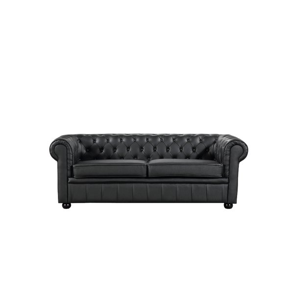 House of Hampton Russell Leather Chesterfield Sofa & Reviews | Wayfair