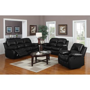 Black Leather Living Room Sets You'll Love | Wayfair