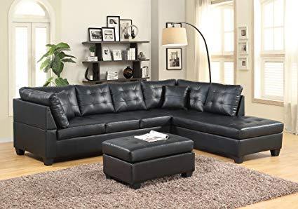 Amazon.com: GTU Furniture Pu Leather Living Room Furniture Sectional