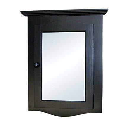 Amazon.com: Renovator's Supply Black Corner Medicine Cabinet Solid
