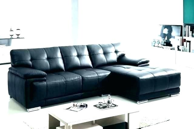 Black Sectional With Chaise Large Black Sectional Couch Black
